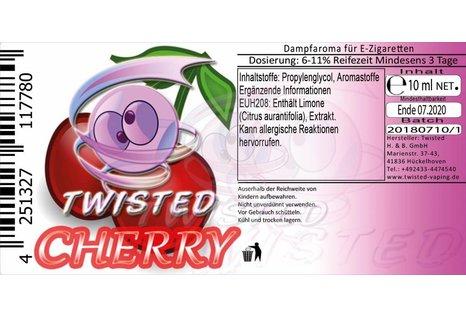 Twisted Vaping Cherry Aroma von Twisted Vaping - Aroma zum Liquid Mischen mit einer Base