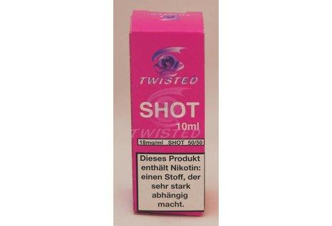 Twisted Vaping Nikotin Shots 10 ml - 50/50 VPG mit 18 mg/ml Nikotin Base von Twisted Vaping