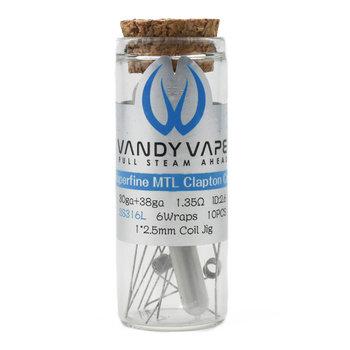 Vandy Vape Vandy Vape Prebuild SS316L Superfine MTL Fused Clapton Coil, 1,35 Ohm - P9