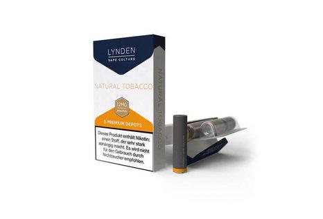 Lynden Natural Tobacco Liquid - Fertig Liquid für die elektrische Zigarette