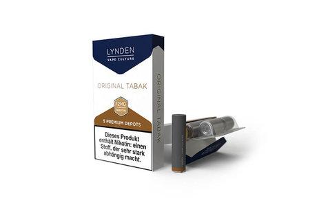 Lynden Original Tabak Liquid - Fertig Liquid für die elektrische Zigarette