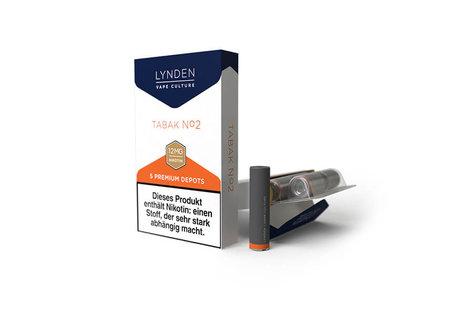 Lynden Tabak No. 2 Liquid - Fertig Liquid für die elektrische Zigarette