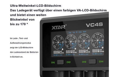 XTAR XTAR VC4S Li-Ion Ladegerät von XTAR