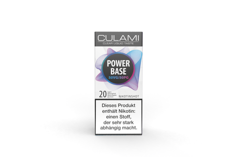 Culami Power Base Nikotinshot 10 ml - 50/50 VPG mit 20 mg/ml Nikotin von Culami
