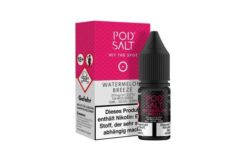 Pod Salt Watermelon Breeze Liquid von Pod Salt - Fertig Liquid für die elektrische Zigarette