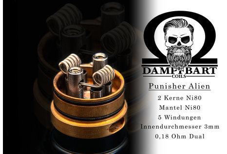 Dampfbart Coils Punisher Alien Fertigcoil von Dampfbart Coils