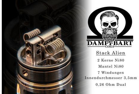 Dampfbart Coils Stack Alien Fertigcoil von Dampfbart Coils