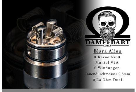 Dampfbart Coils Elara Alien Fertigcoil von Dampfbart Coils