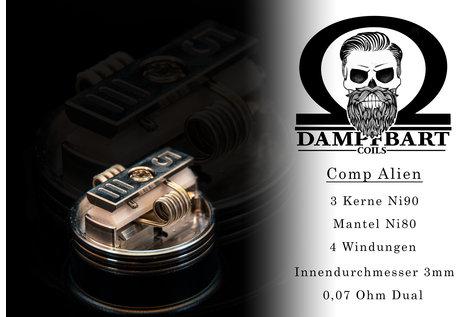 Dampfbart Coils Comp Alien Fertigcoil von Dampfbart Coils