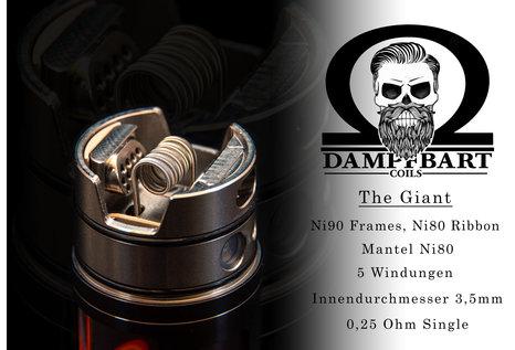 Dampfbart Coils The Giant Framed Staple Alien Fertigcoil von Dampfbart Coils