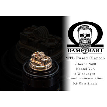 Dampfbart Coils MTL Fused Clapton