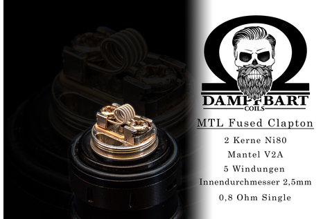 Dampfbart Coils MTL Fused Clapton Fertigcoil von Dampfbart Coils