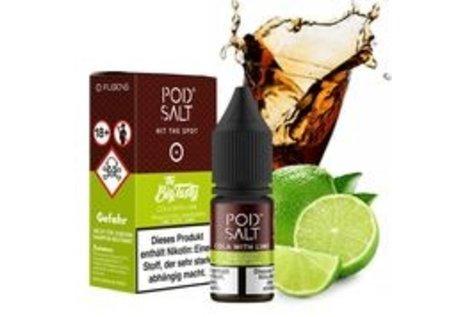 Pod Salt Fusion Cola with Lime Liquid von Pod Salt Fusion - Fertig Liquid für die elektrische Zigarette
