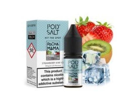Pod Salt Fusion Strawberry Kiwi Ice Liquid von Pod Salt Fusion - Fertig Liquid für die elektrische Zigarette