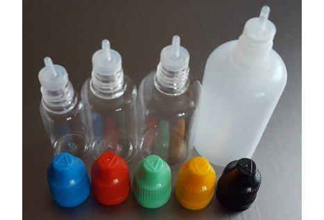 Tropferflasche 50 ml mit verschiedenen Deckelfarben