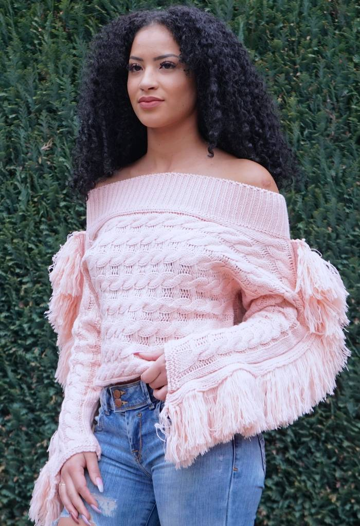 Off shoulder Pink