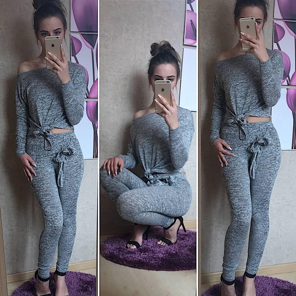 Bow sweatsuit Grey