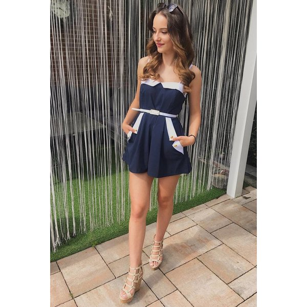 Navy blue Playsuit