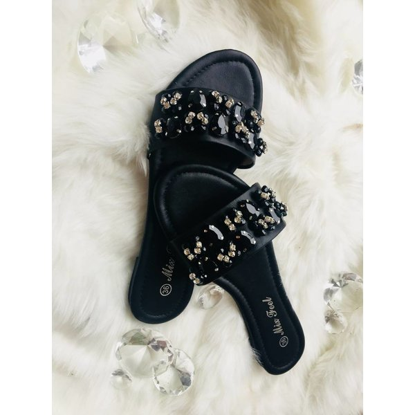 Bandage slipper Black