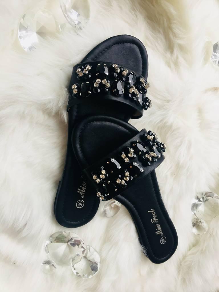 Bandage slipper Black