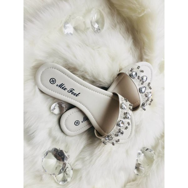 Bandage slippers White