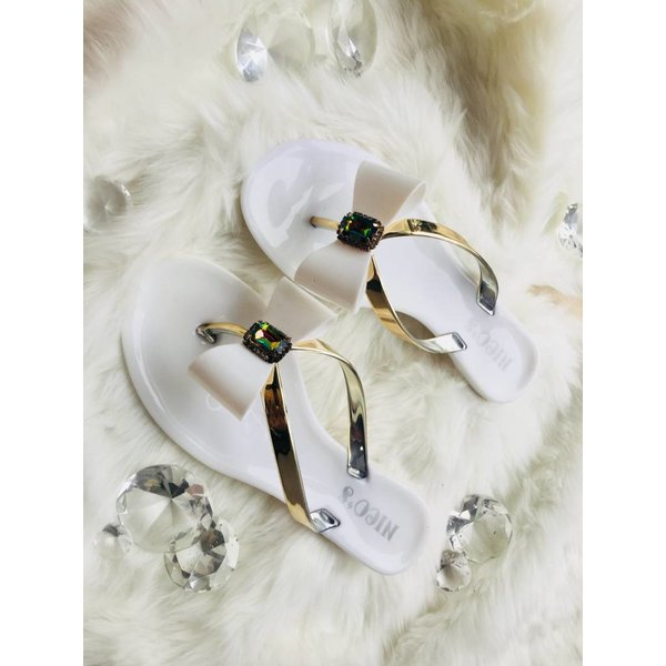 Slipper bow White