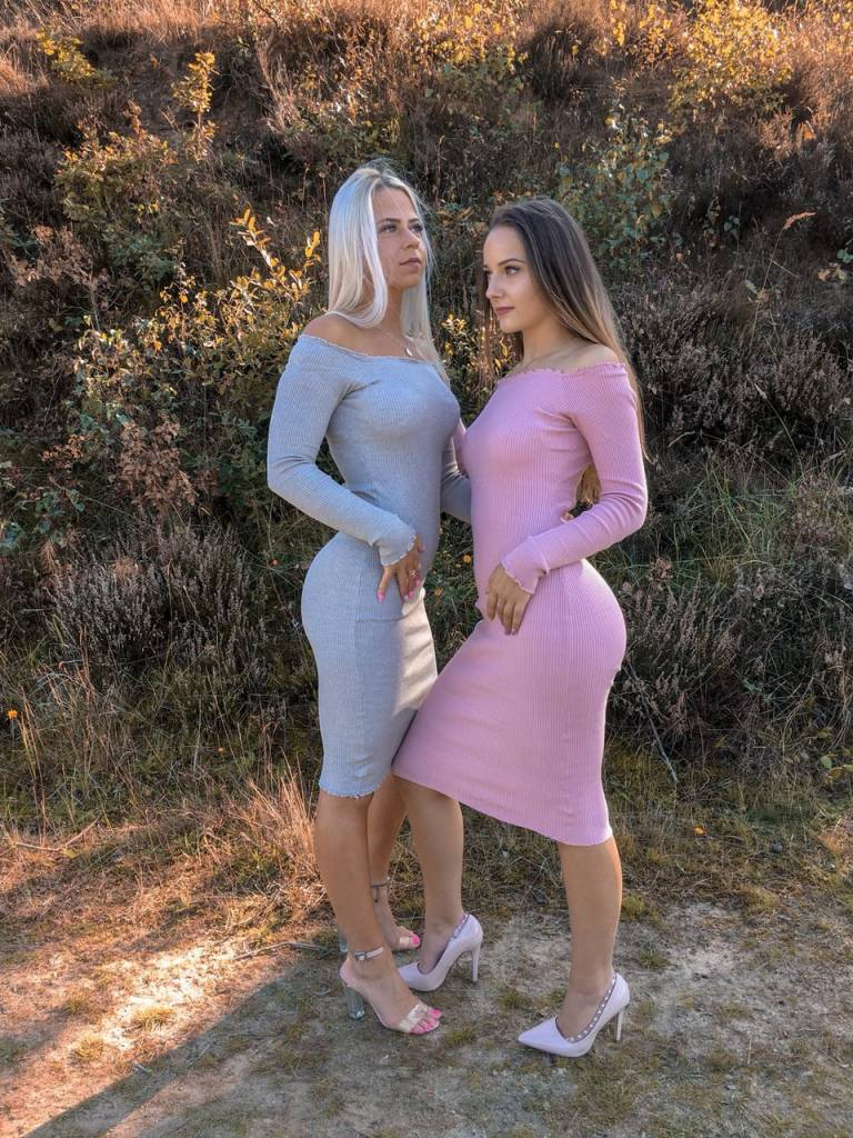 Off- shoulder Dress Gray