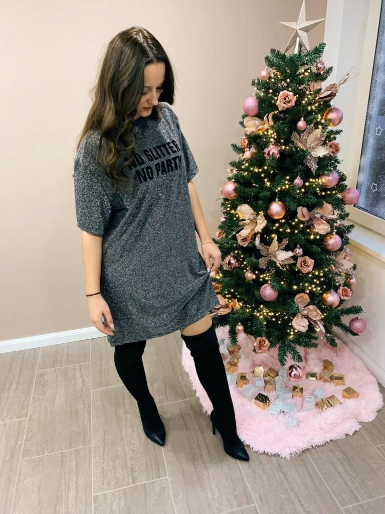 T- Dress Glitter