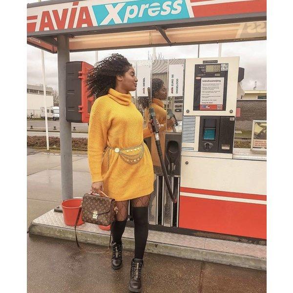 Knit pullover Mustard