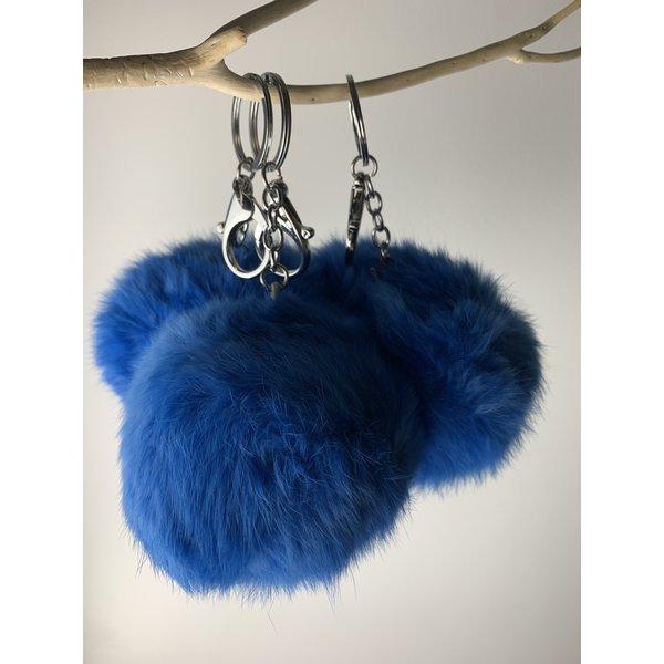 PomPom sleutelhanger Blauw