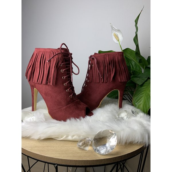 Heels with fringe Red