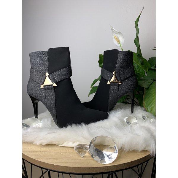 Zwarte enkel laarzen
