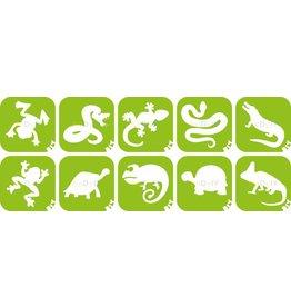 boDyIY Reptielen glittertattoos (10 sjablonen)