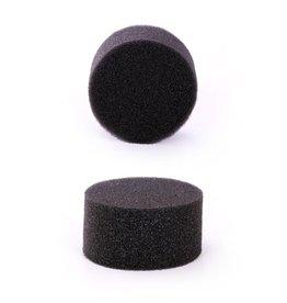 Partyxplosion Zwarte schminkspons voor het schminken van vlakken
