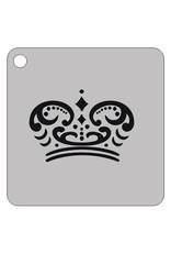 Schmink sjabloon kroon 2 vierkant 7x7cm
