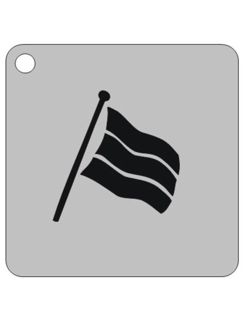 Schmink sjabloon vlag vierkant 7x7cm