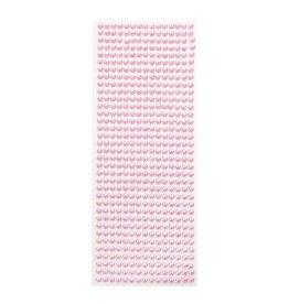 Plaksteentjes roze (100 stuks, ⌀ 5mm)