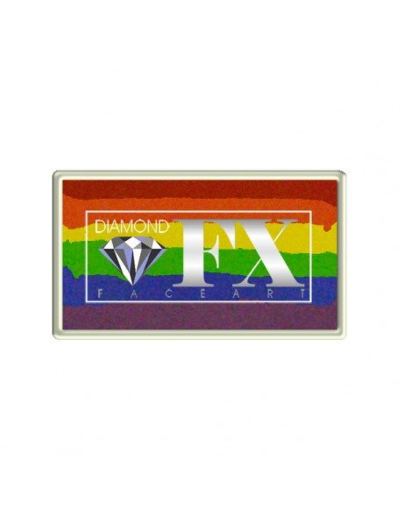 Diamond FX Splitcake regenboog schmink van Diamond FX #30-5 (30 gram)