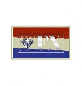 Diamond FX Rood wit blauw schmink #30-40 (DFX Splitcake)