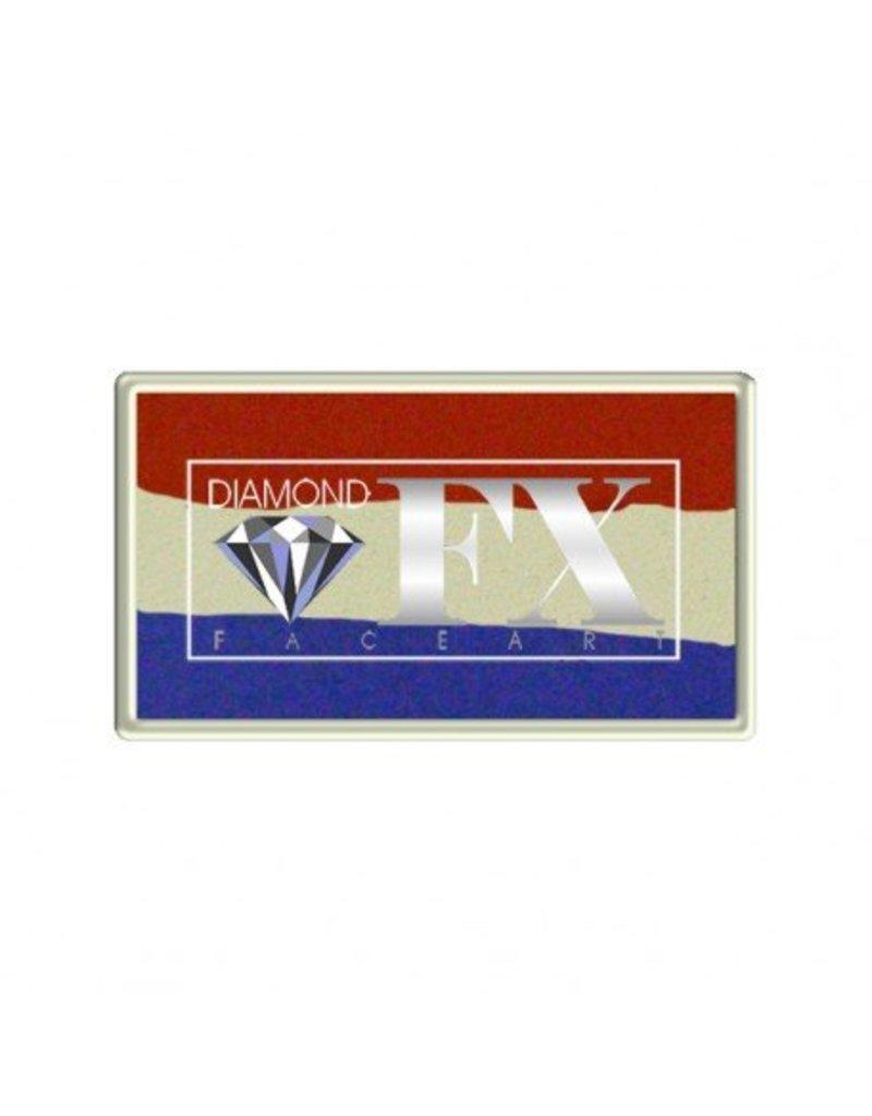 Diamond FX Rood wit blauw schmink van Diamond FX Splitcake #30-40