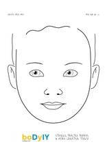 boDyIY boDyIY oefenbord gezicht: Child's Face #01 op A4 formaat