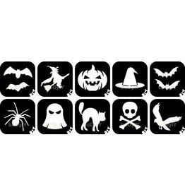 boDyIY Halloween glittertattoos (10 sjablonen)