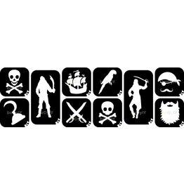 boDyIY Piraten glittertattoos (10 sjablonen)