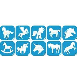 boDyIY Paarden & Unicorn glittertattoos (10 sjablonen)