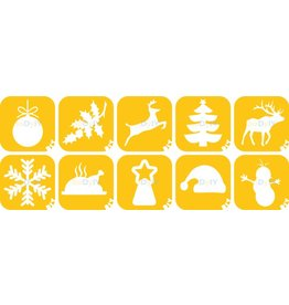 boDyIY Christmas / Kerst glittertattoos (10 sjablonen)