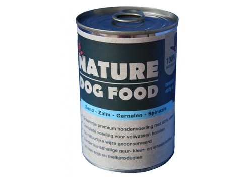 Nature Dog Food Nature Dog Food blik eend - zalm - garnalen 400 gram