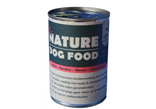 Nature Dog Food Nature Dog Food blik hert -rendier 400 gram