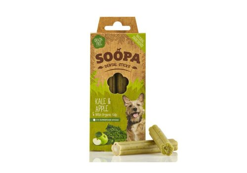 Soopa Dental stick Boerenkool & Appel 4 stuks