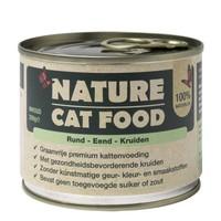Nature Cat Food Rund, Eend en kruiden 200 gram