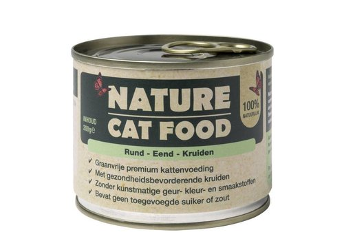 Nature Cat Food Rund, Eend en kruiden 200 gram